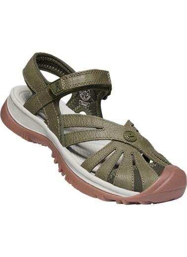 Keen Keen Rose Leather Kadın Sandalet Yeşil Yeşil